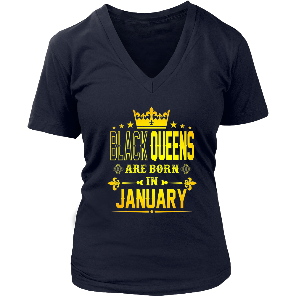 Black Queens Are Born In January shirt