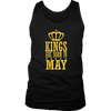 Kings are born in May- Birthday Gift T-shirt