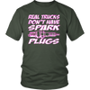 Real Trucks Don't Have Spark Plugs, Funny 4x4 Racing T-Shirt