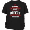 Queens Are Born On August 04 T-Shirt Gift