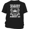 The Real Kings Are Born On August 23rd T-Shirt Leo Zodiac