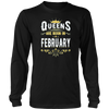Queens Are Born In February Best Birthday Gift for Women