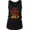 Women's Queens are born in July funny T-shirt