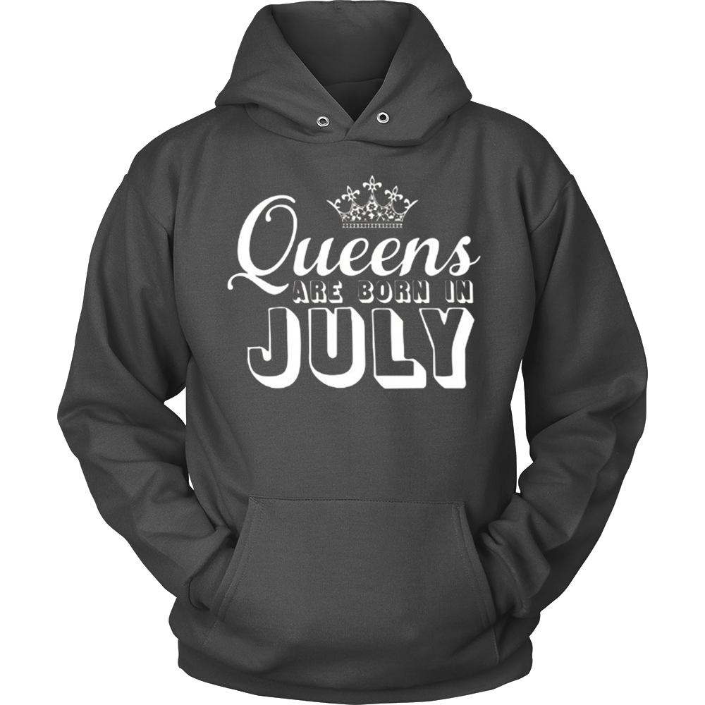 Queens are born in July T-Shirt Fancy Crown Birthday