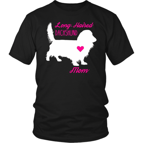 Long Haired Dachshund Mom - Mother's Day Wiener Dog T-Shirt