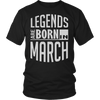 Legends Are Born In March T-Shirt - Top Gold Vintage Edition