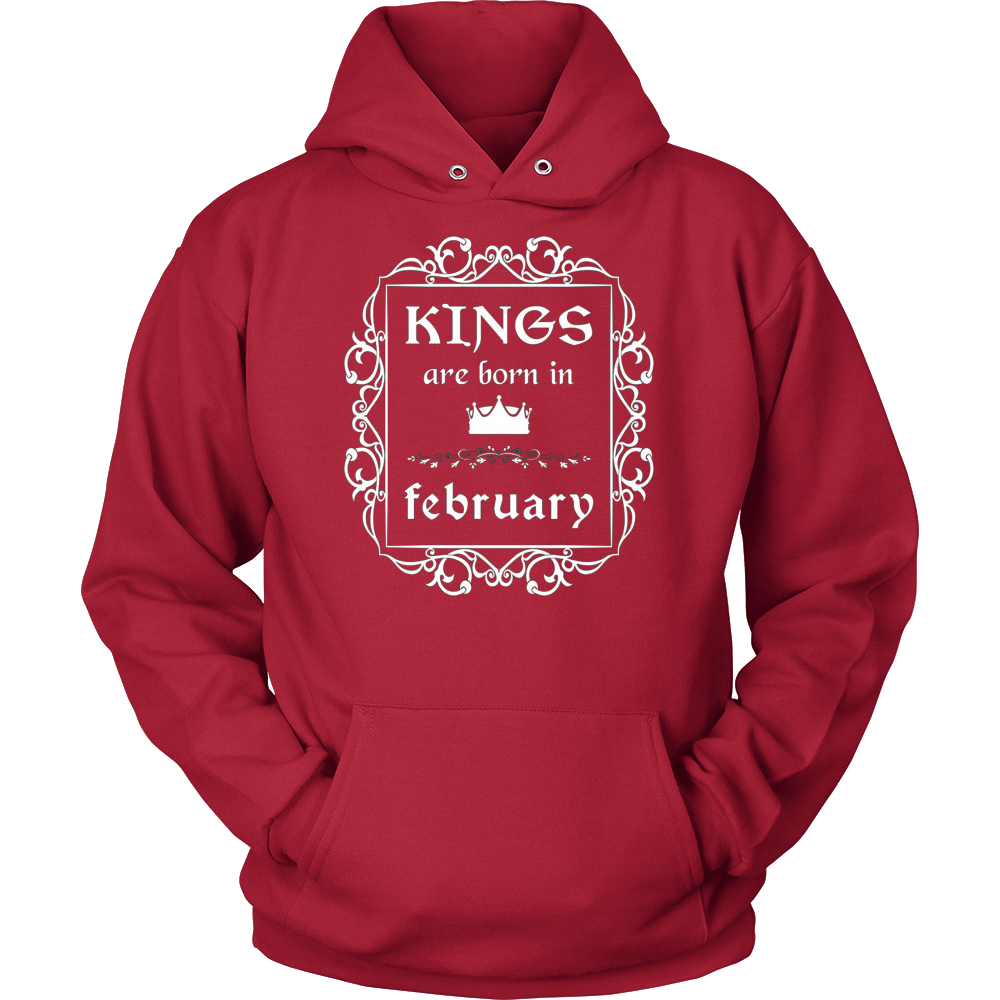 Kings Are Born In February: Birth Month Birthday T-Shirt