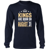 Kings Are Born On August 31 Birthday TShirt