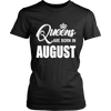 Womens Queens Are Born In August T-Shirt