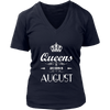 Womens Queens Are Born In August T-Shirt Birthday Gift
