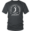 Funny T-Shirt Volleyball Legends Are Born In January
