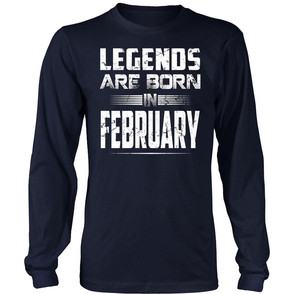Legends Are Born In february T-Shirt Gift Men's Birthday