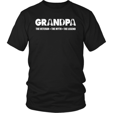 Veteran Grandpa The Man The Myth The Legend Tshirt