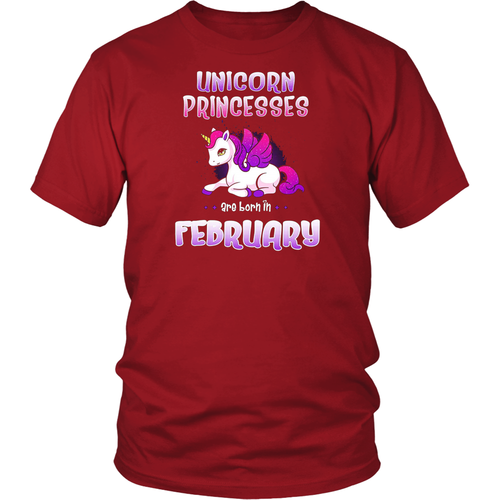 Unicorn Princesses are Born in February Shirt