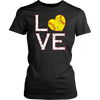 Softball Love Heart T Shirt Softball Dad & Mom Sports Gifts