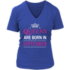 Women's Queens Are Born in September Cute T-Shirt