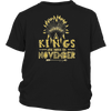 Mens Kings are Born in NOVEMBER NA Gold C1 Funny T-shirt
