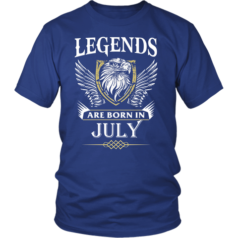 Legends Are Born In July Gift T Shirt