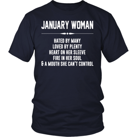 I'm A January Woman T-Shirt Funny Gift Shirt For Woman
