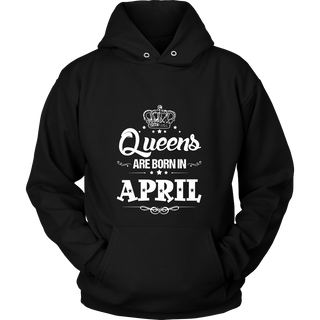 Women's Women's Queens Are Born In april - Birthday T-Shirt