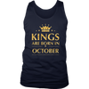 Kings Are Born In October Tshirt