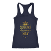 Women's Queens are born in May t shirt