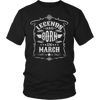 Legends Are Born In March T Shirt | March Birthday Shirts