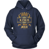 Kings are born in July- Birthday Gift T-shirt