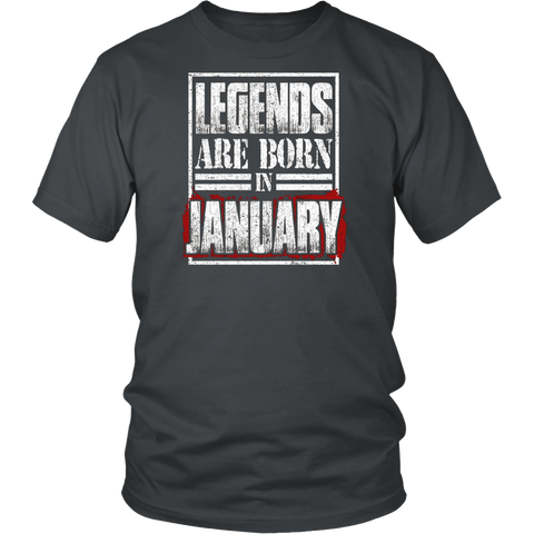Legends Are Born In January T Shirt