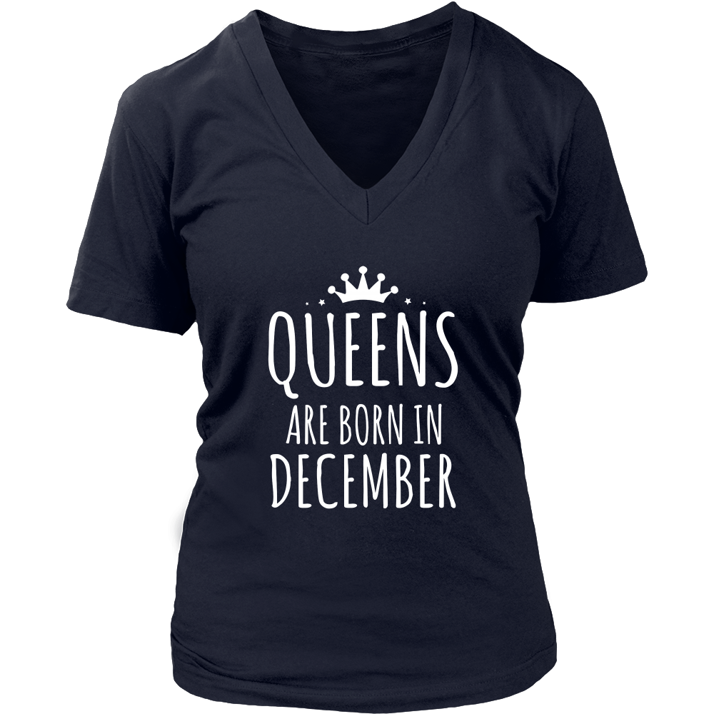 Queens Are Born In December Shirts