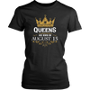 Queens Are Born On August 15 - Birthday T-Shirt