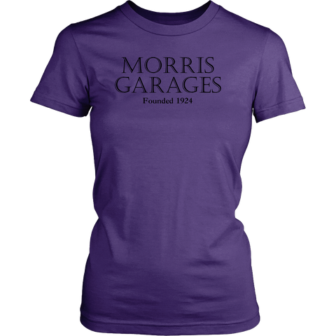 Women's MG Morris Garages British English Cars Founded 1924 T-shirt