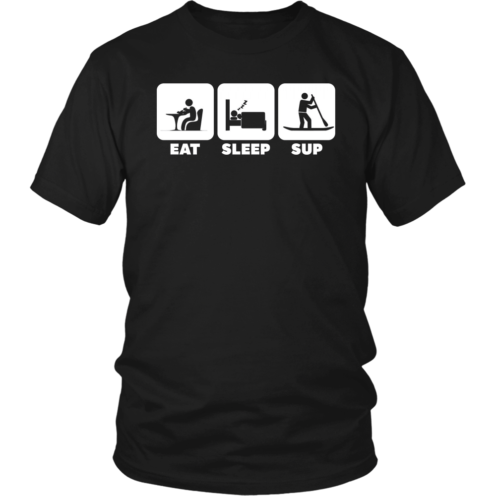 EAT SLEEP SUP | Cool Stand-up Paddleboard T Shirts & Hoodies