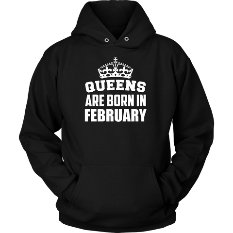 Queens Are Born In February Pride Tshirt