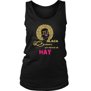 Black Girl Birthday T-Shirt Black Queens Are Born In May