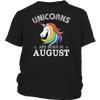 Unicorn Queens Are Born In August 2017 T-shirt