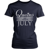 July Birth day girl gift, queens are born in July t-shirt