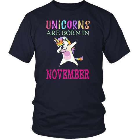 Unicorns Are Born In November T-Shirt Hoodie