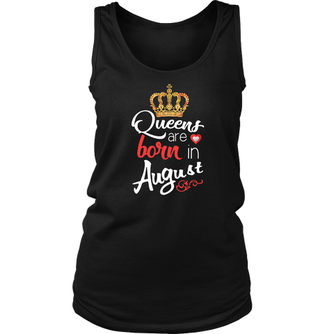 Autism Queens Are Born In August Awareness T shirt