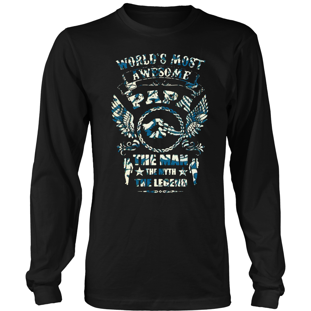 Father's day shirts world's awesome Papa shirts gift 5 color