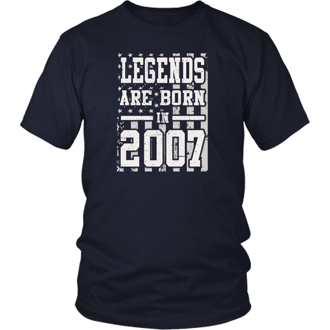 Legends Born In 2007 Birthday Gift For 10 Years Old