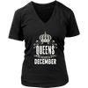 Womens Queens are Born in December Birthdays Girl White C1 T-shirt