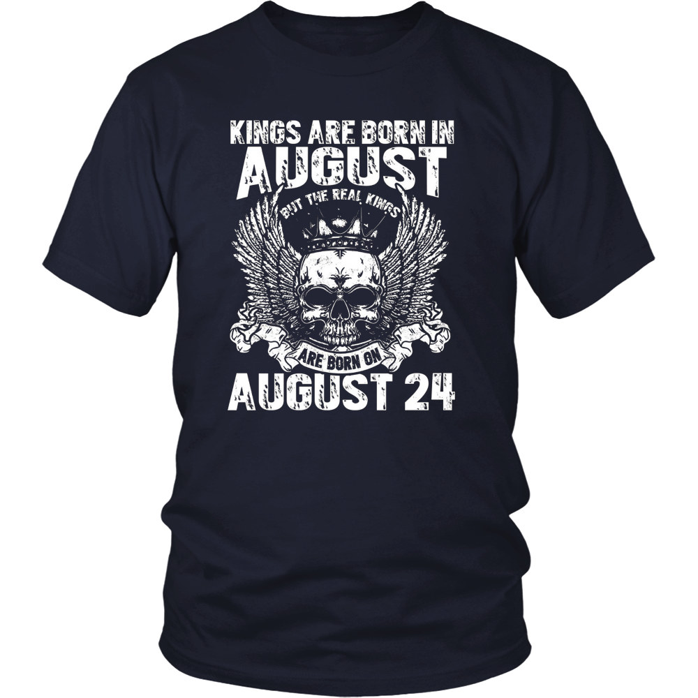 Kings Are Born On August 24th T-Shirt Leo Zodiac