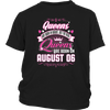 The Real Queens Are Born On August 06 Birthday Gift Shirt