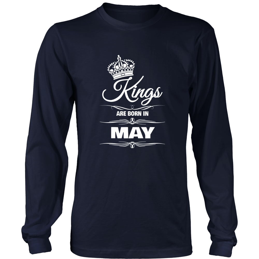 MEN'S KINGS ARE BORN IN MAY BIRTHDAY NOVELTY T-SHIRT