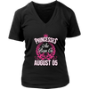 Princesses Are Born On August 05 Birthday T-shirt Gift