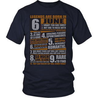 Legends Born In June T-Shirt Gemini Pride