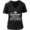 Queens Are Born in September - Birthday Gift T-shirt