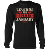 Legends Are Born In January T-shirt - Birthday TShirt