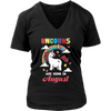 Unicorns Are Born In August T-Shirt Birthday Gift